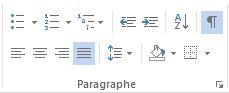 Section Paragraphe - Des didacticiels Microsoft Word sur lilitherature.com.