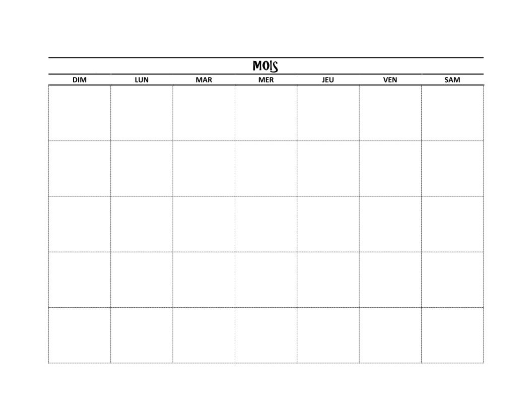 DIY BUJO : Faire un calendrier avec Microsoft Word