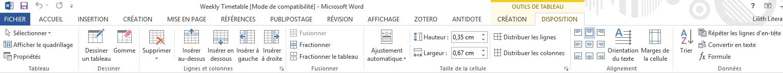 DIY BUJO : Réaliser une Weekly Timetable avec Microsoft Word