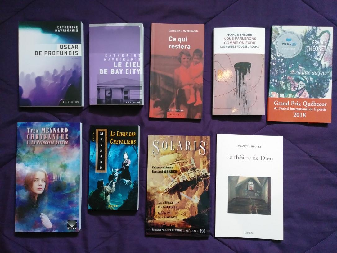 Bookhaul: Retour sur mon Salon du livre de Montréal 2018