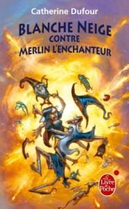 DUFOUR, Catherine, Merlin l'ange chanteur (Quand les dieux buvaient, 2 – Blanche Neige contre Merlin l'enchanteur), Paris, Le Livre de Poche, coll. «Fantasy», 2009, p. 9-323. Avis lecture sur lilitherature.com.