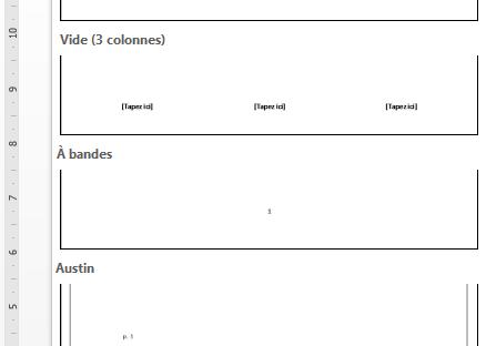 Modèles de pieds de page - Des didacticiels Microsoft Word sur lilitherature.com.