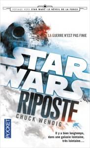 WENDIG, Chuck, Riposte (Star Wars: Aftermath, 1), Paris, Pocket, 2016 [2015], 480 p. Avis lecture au https://lilitherature.com/2018/10/25/star-wars-aftermath/.