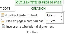 Section Position - Des didacticiels Microsoft Word sur lilitherature.com.