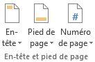 Section En-tête et pied de page - Des didacticiels Microsoft Word sur lilitherature.com.