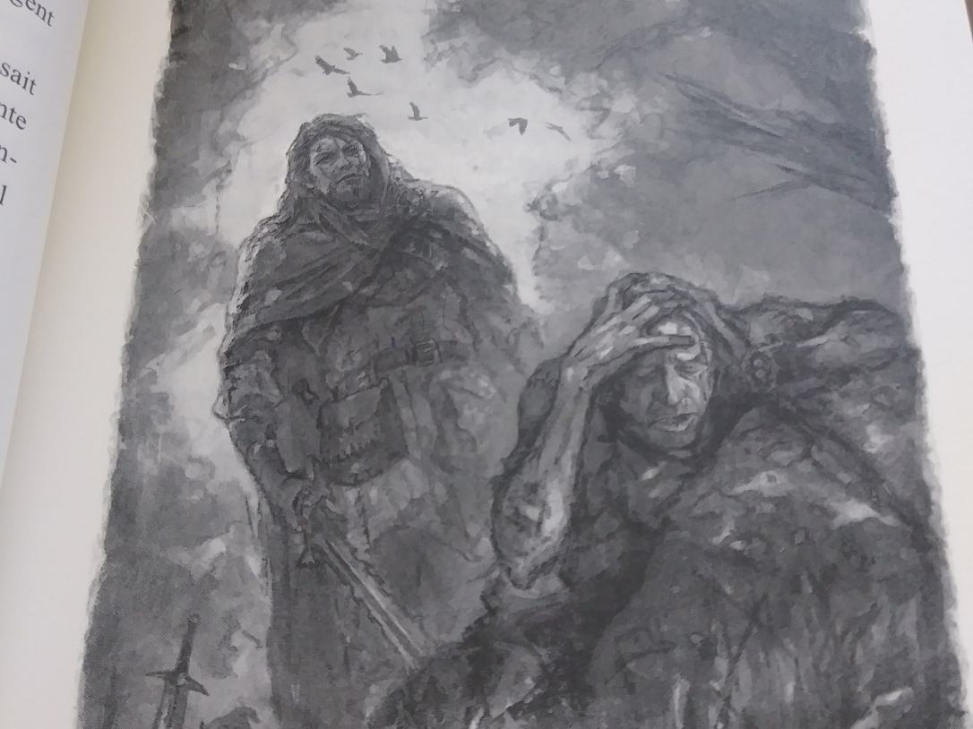 Illustration de Jenny Burgy pour Les royaumes démoniaques, tome I, La roche des âges de Christopher Evrard, Chapitre I: La colère d'un vaurien, p. 19.