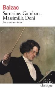 Sarrasine Gambara Massimilla Doni Balzac